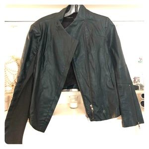 Olivaceous Green Leather Jacket